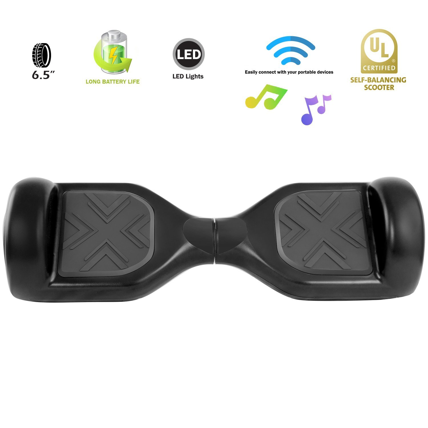 XPRIT Hoverboard w/Bluetooth Speaker (Black) by XPRIT (Image #6)