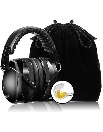 9beb3d23508 Meerveil Orejeras Protección Plegables, Cancelación de Ruido, Orejeras  Auditiva para Proteger Oídos, Casco