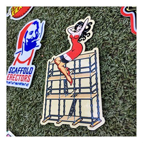 (40+) Scaffolder Hard Hat Stickers Hardhat Sticker & Decals, Scaffold Carpenter by Unknown (Image #5)