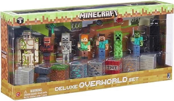 Minecraft overw orld Pack Figuras Juego: 8 Figuras.: Amazon.es: Juguetes y juegos