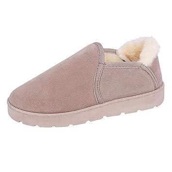 LuckyGirls Botas de Nieve para Mujer Moda Casual Botina Terciopelo Zapatillas Zapatos Planos Alpargatas Mocasines Náuticos