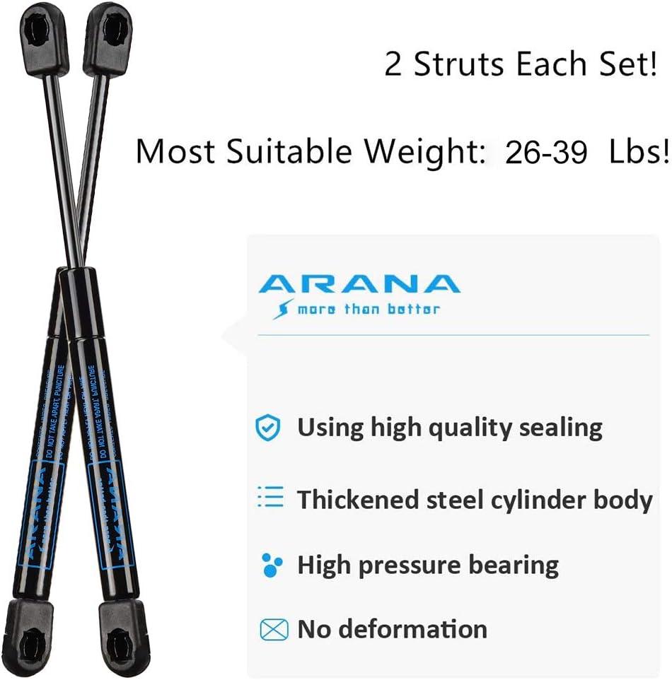 2 Pcs Set ARANA 10 Inches Gas-Shocks Struts 35 Lb//156 N Easy-to-Install Lift-Support Props for Pickup Truck Cap Tool Box Utility Box Lid