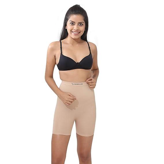 b78a37e7d1 SHAPPON Women s Girl s Nylon Body Shapewear (Cream)(7151SK)  Amazon ...