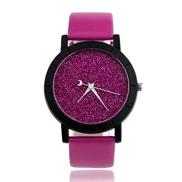 WZFCSAEAE Cute Moon Stars Design Reloj de Pulsera Analógico Mujeres Unique Romantic Starry Sky Dial Casual