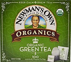 Newman's OwnOrganics Royal Tea, Organic Green Tea, 100-Count Individually Wrapped Tea Bags (Pack of 5)