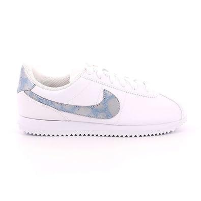 Nike Schuhe – Cortez Basic SL (GS) WeißBlauWeiß Größe