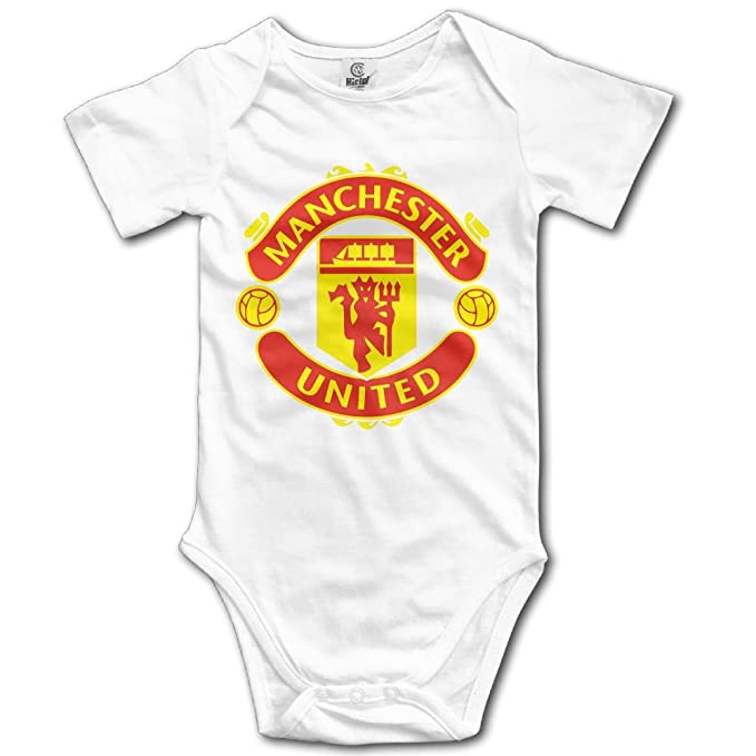e4a6a0f6e Amazon.com  Manchester United Soccer Bodysuit Baby Baby Onesie  Clothing
