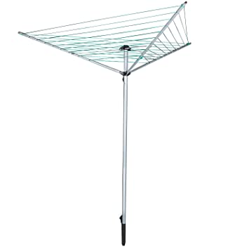 Awesome Jusdreen Essentials Collapsible 9 Line Clothesline Drying Rack Umbrella  Style Clothes Hanger Retractable Clothes Rotary