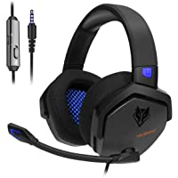 NUBWO N15 Gaming Headset for Xbox One PS4 PC with Flexible Mic Comfort Rotatable Earmuffs, Stereo Sound, Easy Volume Control for Xbox One S/X Playstation 4 Computer Laptop(Black)
