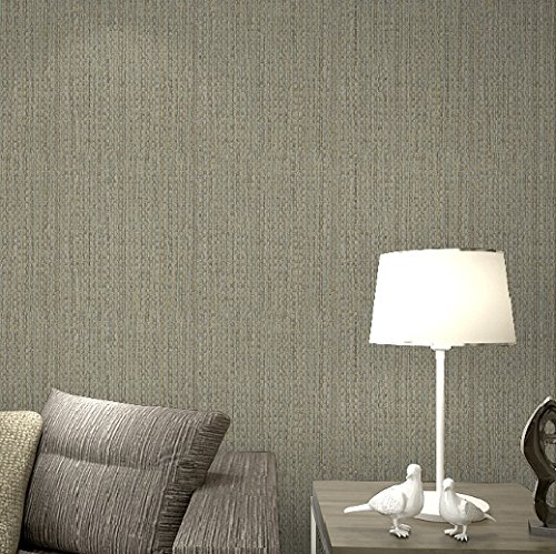 Modern Plain Linen Texture Wallpaper Faux Grasscloth Wall Paper Realistic Woven Straw Wallcovering Grey Beige Taupe -
