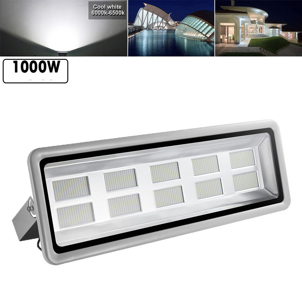 1000W Led Floodlight,Led Exterior Flood Lights,Led spotlights Getseason Daylight White Outdoor and Indoor IP65 Waterproof Security Light for Garage, Garden, Lawn and Yard