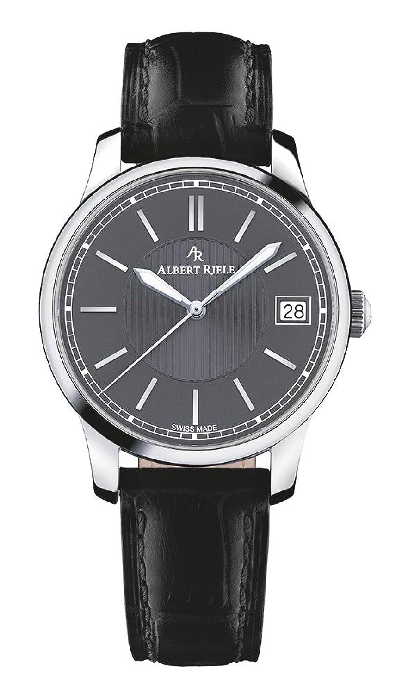 Albert Riele Damen Armbanduhr CONCERTO Analog Quarz schwarzes Lederarmband 206LQ02-SS22I-LB