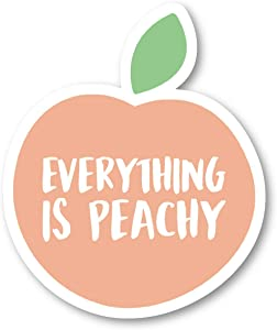 "Everything is Just Peachy Sticker Inspirational Quotes Stickers - 2 Pack - Laptop Stickers - 2.5"" Vinyl Decal - Laptop, Phone, Tablet Vinyl Decal Sticker (2 Pack) S9346"