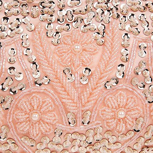 Evening Beaded Purse Pink Satin Handbags Clutch Handmade Albabara B4xfq74