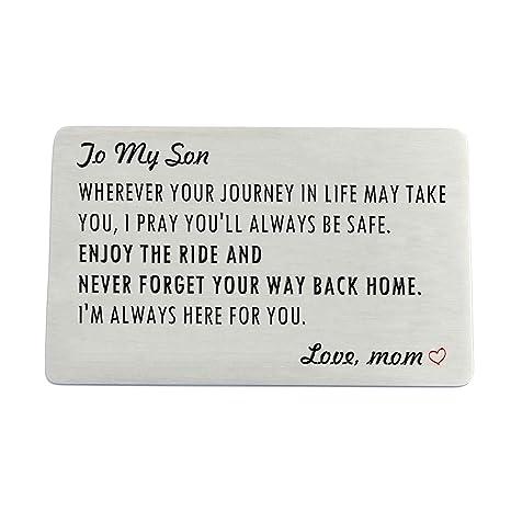Amazon.com: Tarjeta de felicitación para hijo de mamá, de ...