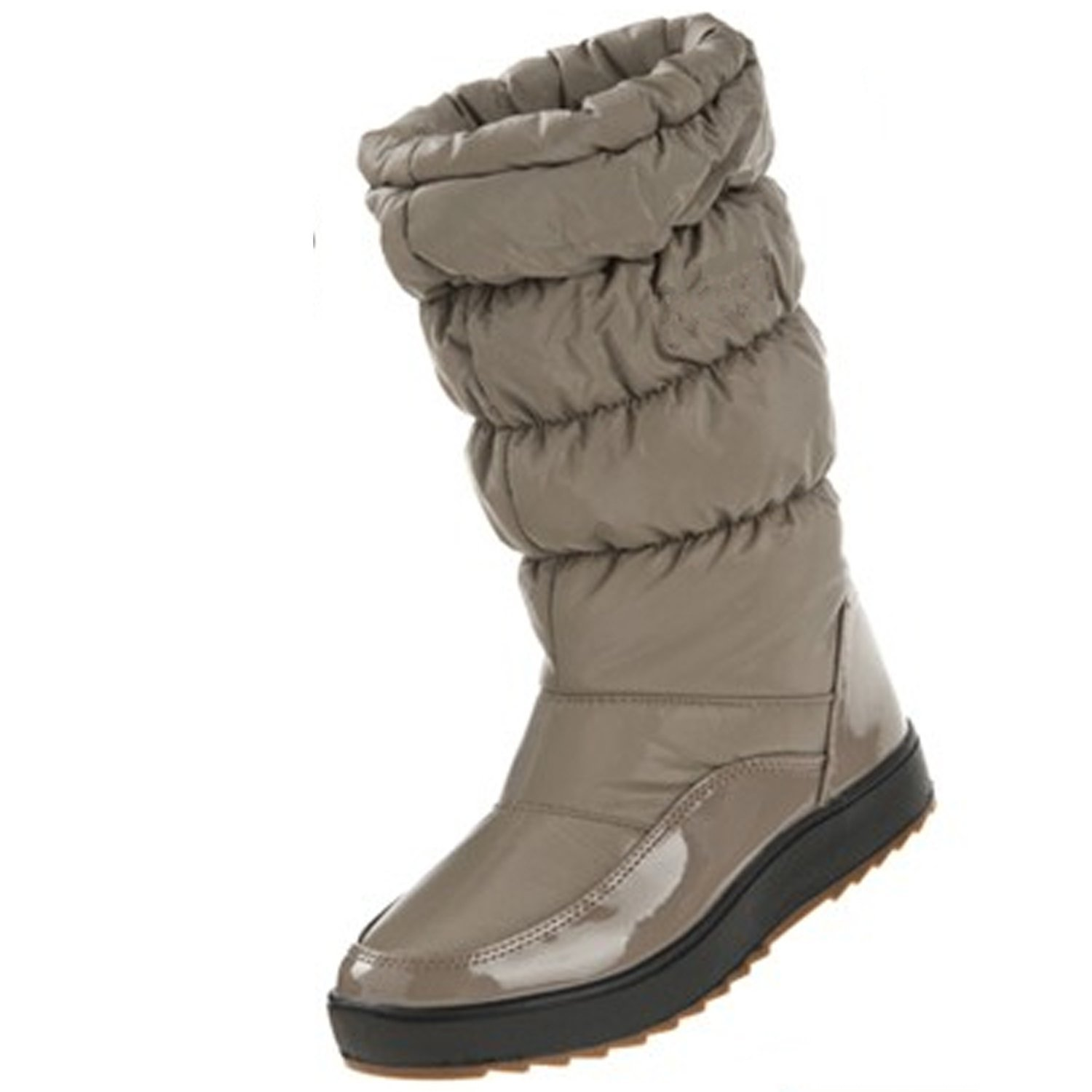 NOT100 Down Jacket Mid Calf Boots Water Resistant Smooth Upper Warm Winter Sneakers For Women Grey 6.5US