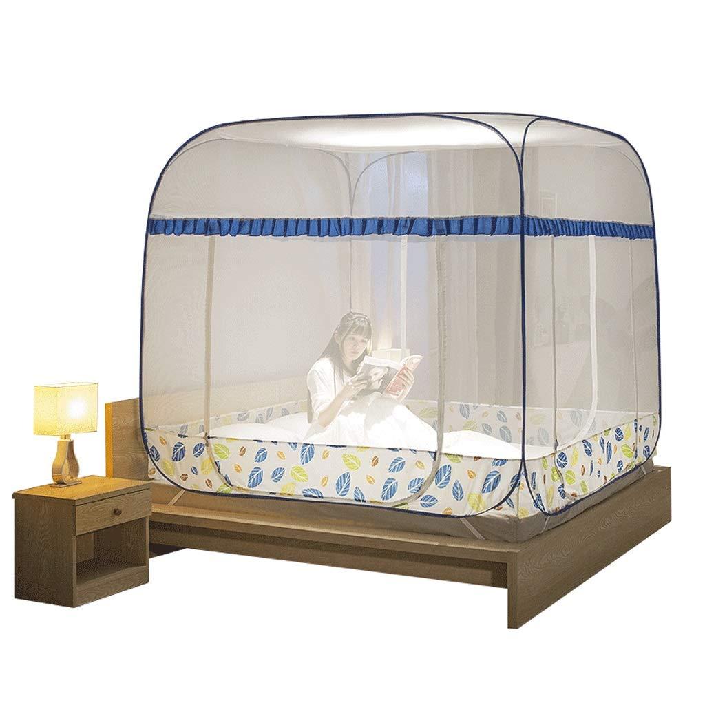 蚊帳モンゴルのパオ蚊帳は3ドア暗号化パッド入り蚊帳をインストールする必要はありません (色 : A, サイズ さいず : Bed 2 m) B07RTM6F5X A Bed 2 m