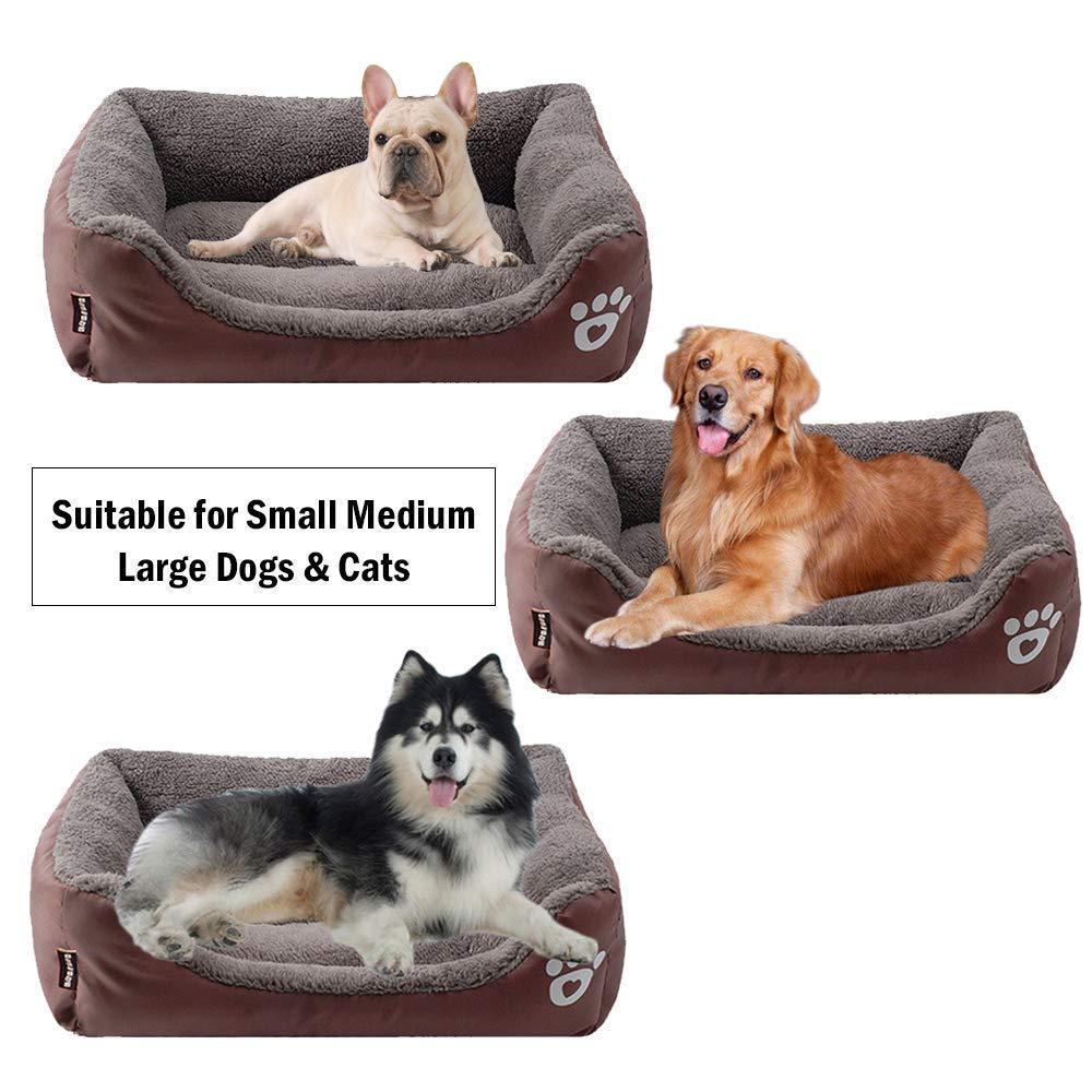 Amazon.com: XLBHSH Soft Washable Dog Cat Bed, Waterproof ...