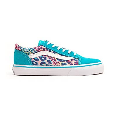 00b24c619f8 Vans Girls  Old Skool J Trainers Blue Blue Blue Size  1.5  Amazon.co.uk   Shoes   Bags