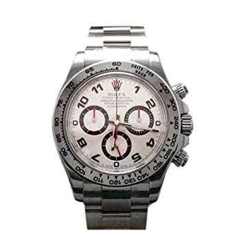 Amazon Com Rolex Cosmograph Daytona White Gold Silver Dial Watch