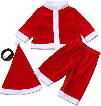 Baohooya Disfraz Elfo Navidad Niñas Niño 3-12 Años - Conjuntos ...