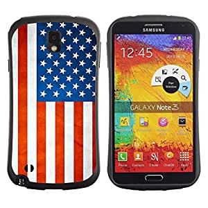 LASTONE PHONE CASE / Suave Silicona Caso Carcasa de Caucho Funda para Samsung Note 3 N9000 N9002 N9005 / National Flag Nation Country USA