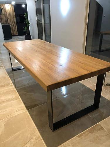 Table Industriel Bois Et Metal Amazon Fr Handmade