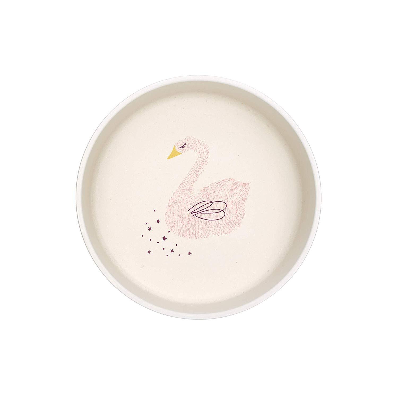 Set Wildlife Swan //// L/ässig Baby`s Schale /& Esslern-Teller //// L/ässig Tasse //// BAMBOO L/ässig Kindergeschirr aus Bambus 3er