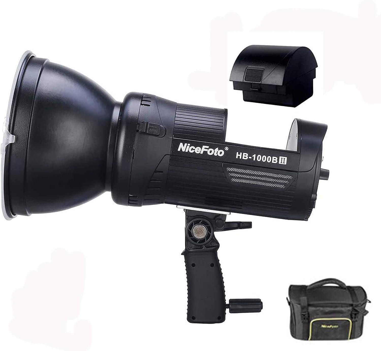 HB-1000A LED Video COB Licht NiceFoto LB01 Li-lon Akku 6600mAh 12V f/ür Nicefoto HB-1000B II