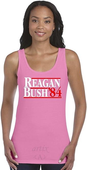Reagan Bush `84 Mens Tank Top Medium Sport Grey Artix A
