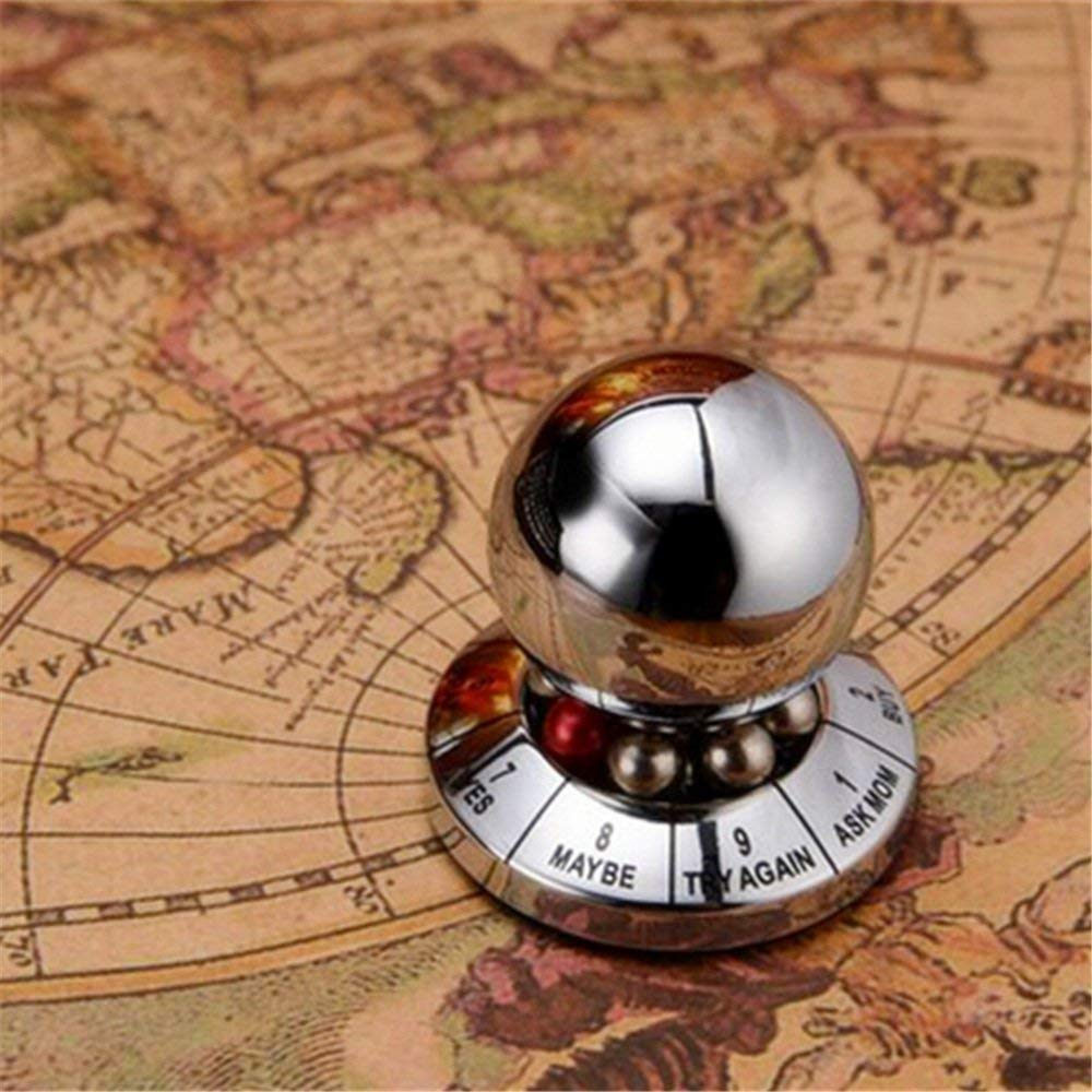 DesignerBox Decision Maker Metal Ball Prophecy Fate Decision Ball Office Finger Spinner Anti-Stress Decompression Toy Ball Destop Decoration Birthday Gift for Kids /& Adults Random Color