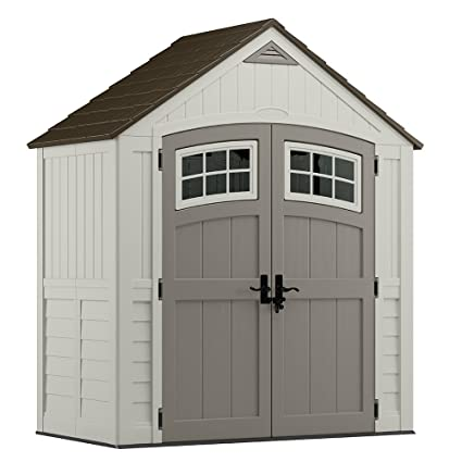 Good Suncast BMS7400 Cascade Blow Molded Resin Storage Shed