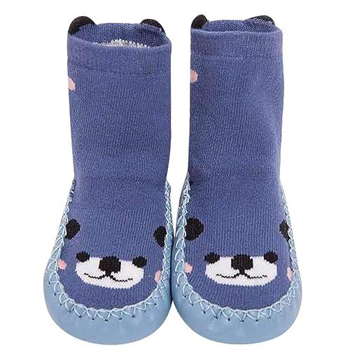 Neugeborenes Baby Mädchen Junge Rutschfeste Socken Slipper Kindersocken Warm