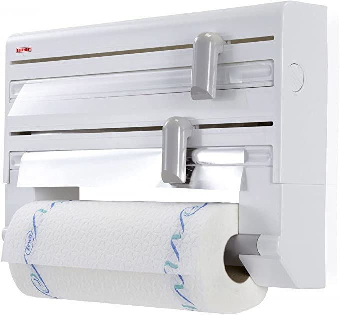 LEIFHEIT ROLLY MOBIL WHITE WALL MOUNTED PAPER TOWEL DISPENSER 25795