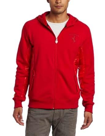 PUMA Men's Ferrari Hooded Sweat Jacket, Rosso Corsa, XX-Large