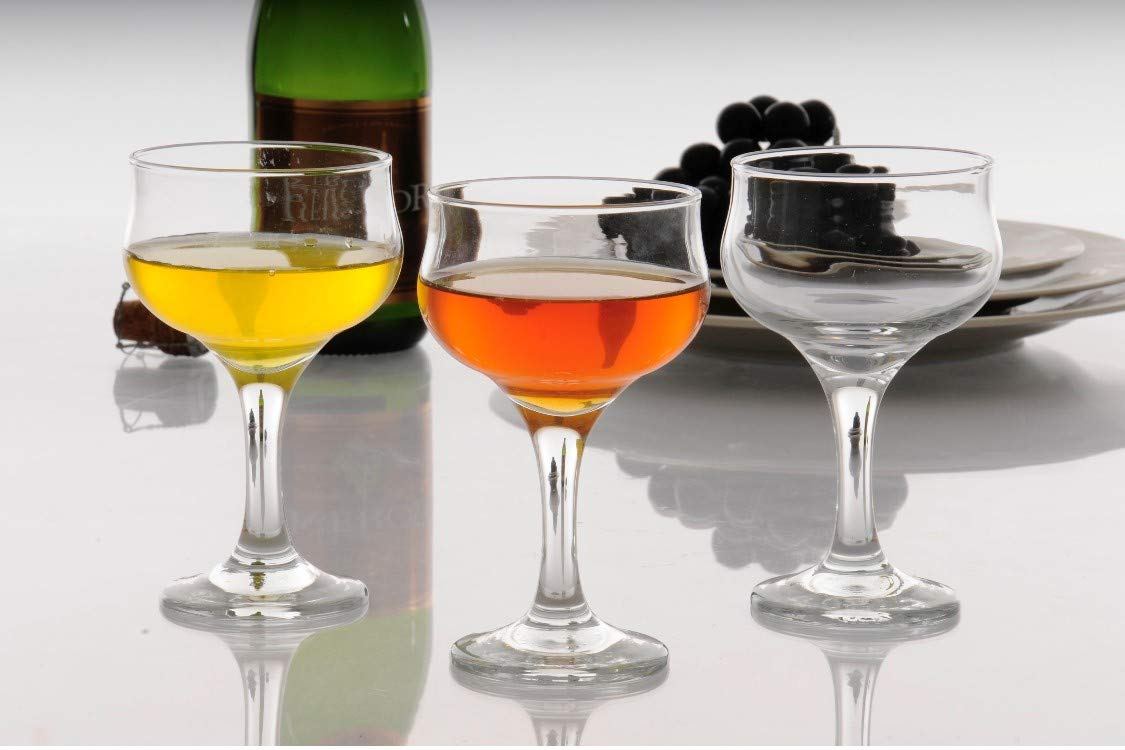 GLASSCO Classic Martini Coupe Cocktail Glasses - 9.50 Ounce Cups, (Set Of 24)