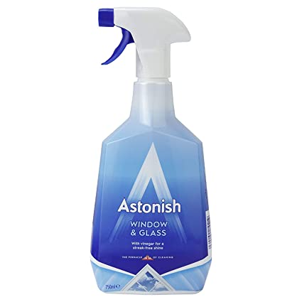 Astonish Window Cleaner With Vinegar 750ml spray