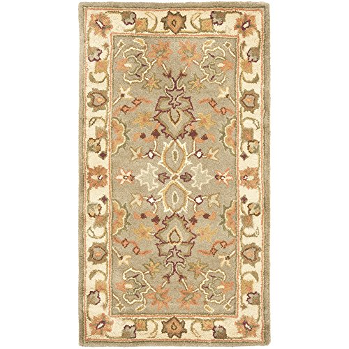Safavieh Heritage Collection HG959A Handcrafted Traditional Oriental Light Green and Beige Wool Area Rug (2' x 3') (Beige Persian Wool Rug)