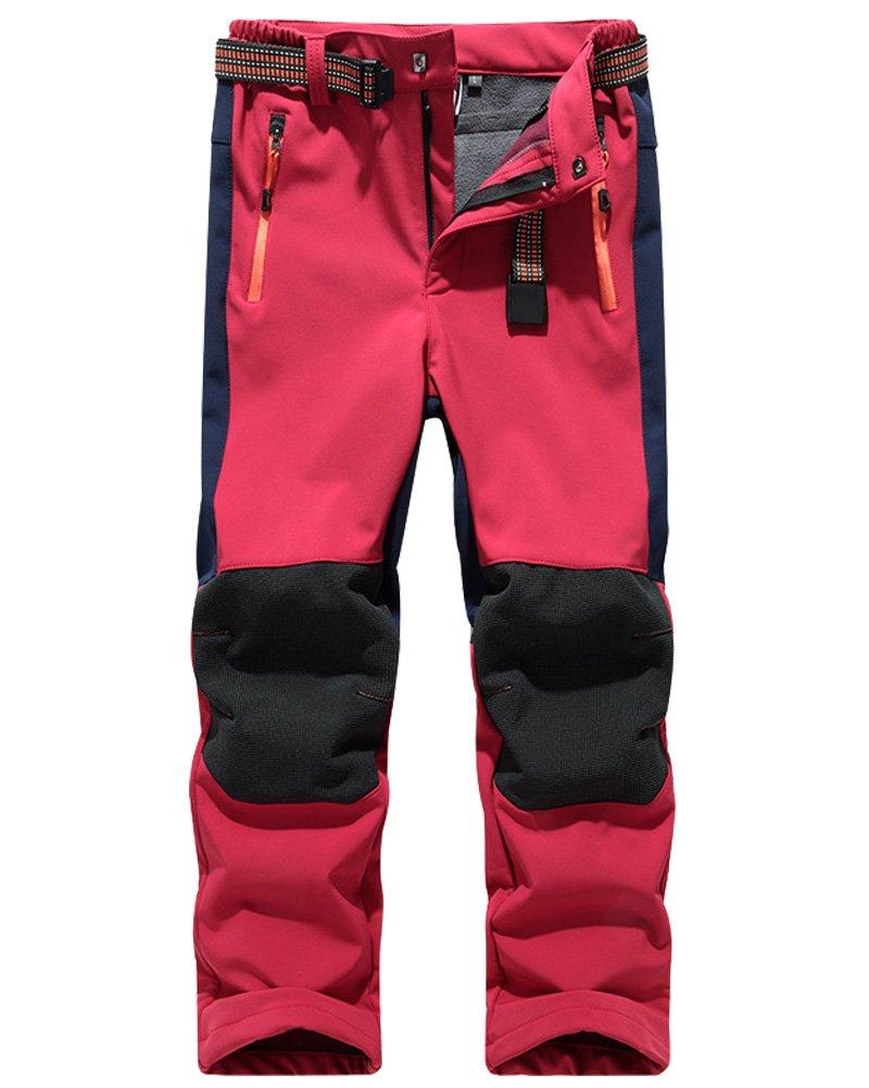 Toomett Kids' Boys Outdoor Snowboard Pants Waterproof Camping Hiking trousers #94090-Red,US S by Toomett