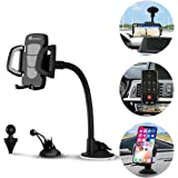 Car Phone Mount, Vansky 3-in-1 Universal Phone Holder Cell Phone Car Air Vent Holder Dashboard Mount Windshield Mount for iPhone 7 Plus,8 Plus,X,7,6S,6,Samsung Galaxy Note S6 S7 and More