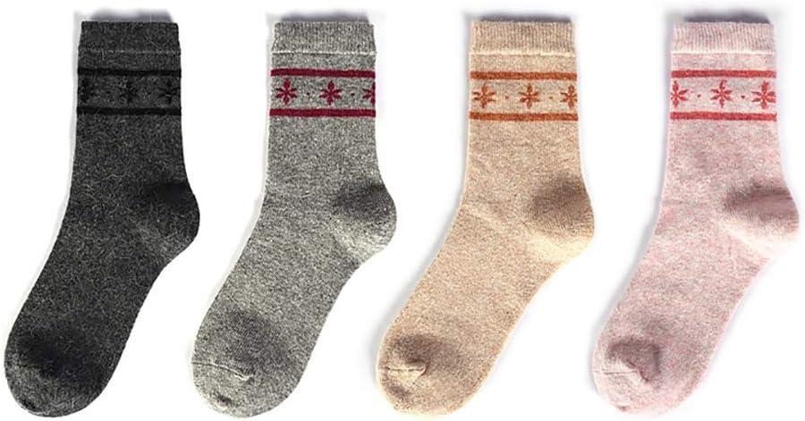 RenFox c/álidos y suaves calcetines de punto para mujer Calcetines de invierno para mujer talla /única transpirables de algod/ón 5 pares de calcetines de lana
