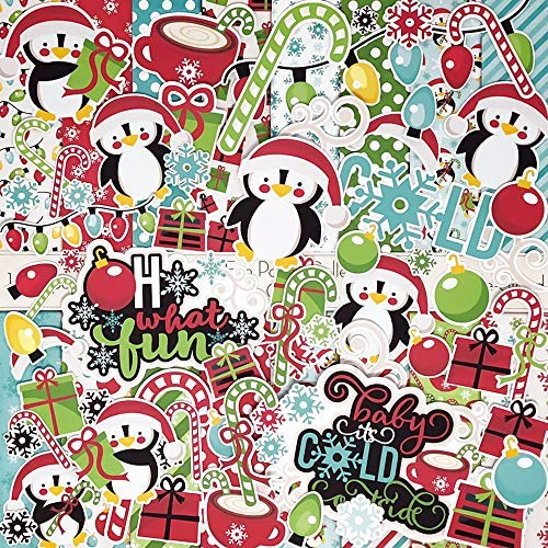 Die Cuts & Paper Set - Oh What Fun - by Miss Kate Cuttables - 16 Sheets of 12x12 Specialty Paper & Over 60 Coordinating Die Cuts - Exclusive Original Matching Set