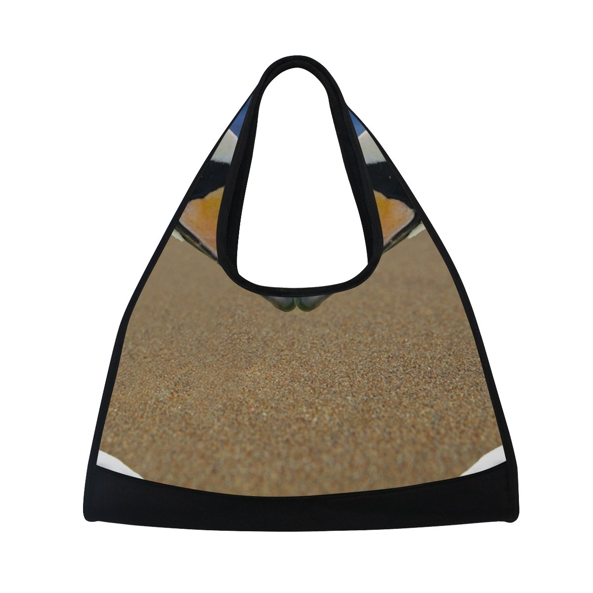 AHOMY Canvas Sports Gym Bag Beach Swan Love Kiss Travel Shoulder Bag
