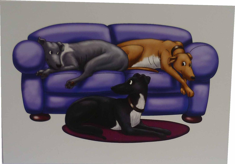 Greyhounds (sofa) Notecards (pack of 10)