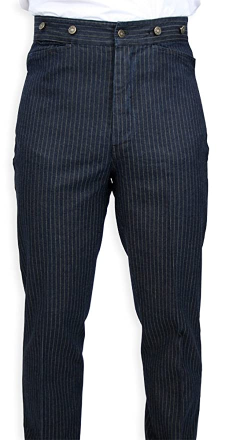 Edwardian Men's Fashion & Clothing Humboldt Striped Trousers $59.95 AT vintagedancer.com