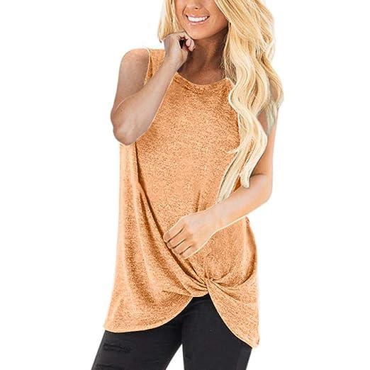 8865134e98e2e8 Image Unavailable. Image not available for. Color: iZHH Shirts for Women  Fashion Loose Sleeveless O-Neck ...