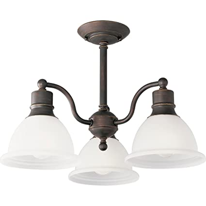 Progress lighting p3663 20 3 light semi flush close to ceiling