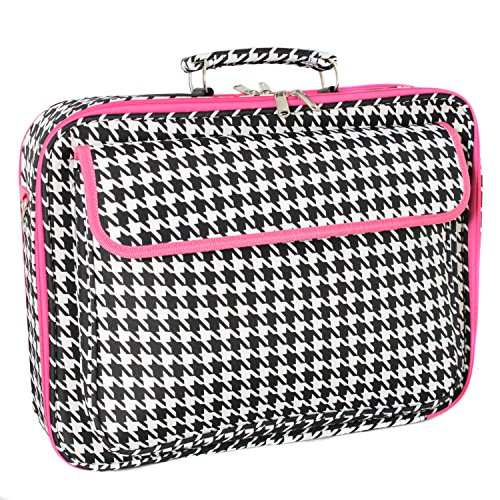 World Traveler 43,2 cm Laptop Computer Fall Fuchsia Trim Houndstooth