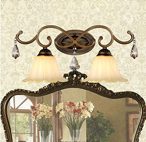 Leihongthebox Wall Sconce style reminiscent of the Mirror Wall Sconce lights lights, front cabinet makeup mirror lamp lights led before the mirror lamp iron art nouveau Wall Sconce ()