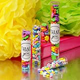 """Premium Clear Candy Tubes - 10 Gumball Tubes (1"""" x 7)"""